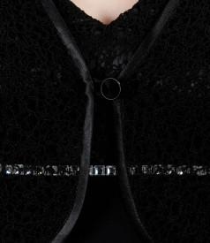 Bolero din dantela neagra