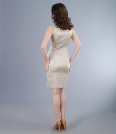 Rochie din brocart elastic satinat