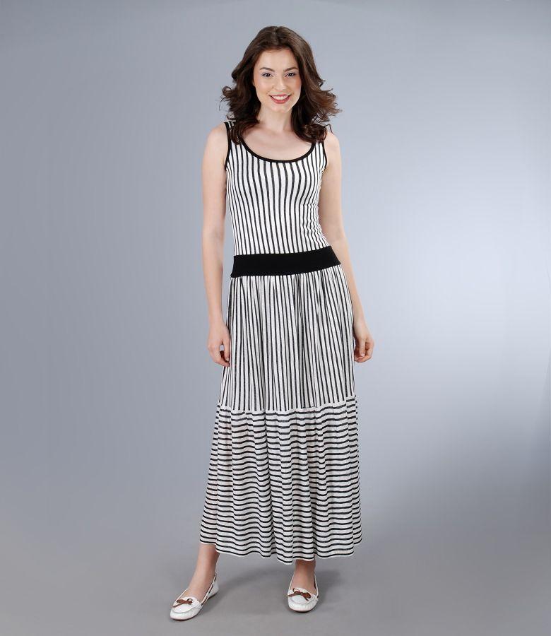 Rochie lunga din jerse de vascoza imprimata