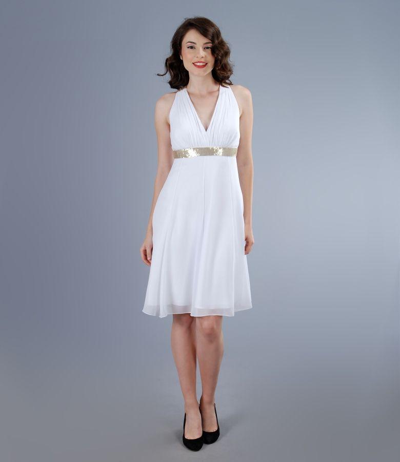 Rochie din voal cu garnitura
