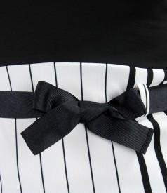 Tricou din jerse imprimat cu cordon