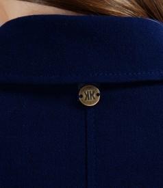 Sacou office bleumarin din stofa elastica