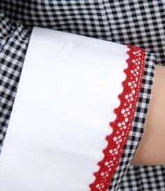 Camasa cu bumbac elastic in carouri