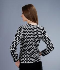 Jacheta din jerse elastic gros brocat