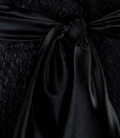 Rochie creponata cu cordon de saten