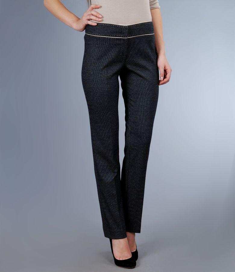 Pantaloni eleganti cu garnitura