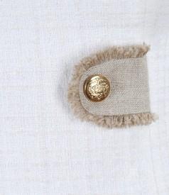 Rochie din bucle de bumbac si lana virgina