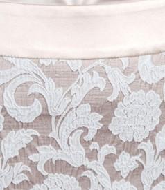 Fusta eleganta din brocart elastic de bumbac