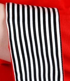 Camasa din bumbac elastic cu garnitura