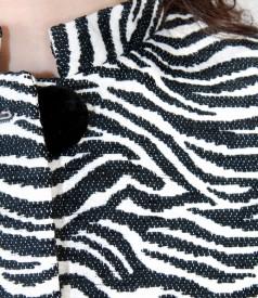 Jacheta brocata cu catifea
