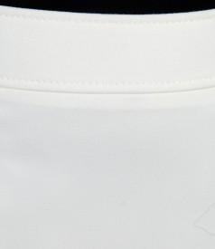 Fusta alb-ecru cu garnitura