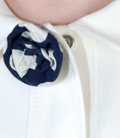 Sacou din stofa elastica cu floare