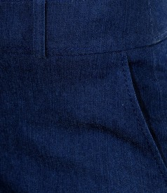 Pantaloni din denim elastic bleumarin