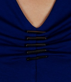 Tricou din jerse elastic cu accesoriu