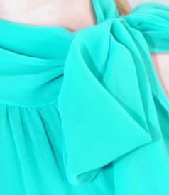 Rochie din voal cu esarfa
