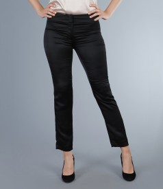 Pantaloni eleganti din saten