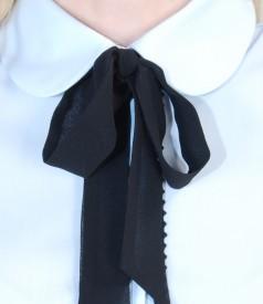 Camasa din bumbac elastic cu guler rotunjit