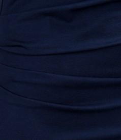 Rochie din jerse elastic cu pliuri