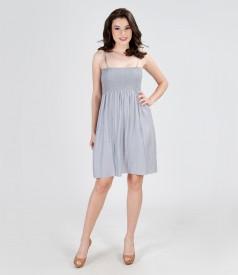 Rochie-fusta cu talia elasticizata