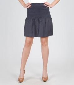 Bluza-fusta cu talia elasticizata