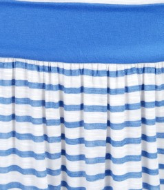 Rochie din jerse de vascoza imprimata