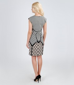 Rochie de seara din brocart elastic de bumbac cu fir metalic
