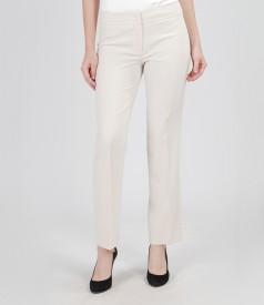 Pantaloni eleganti crem
