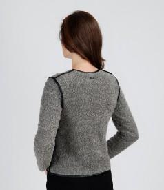 Jacheta din bucle elastic cu lana