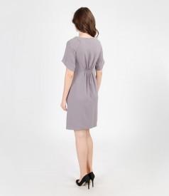 Rochie de voal elastic cu maneci
