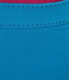 Fusta din stofa elastica cu garnitura