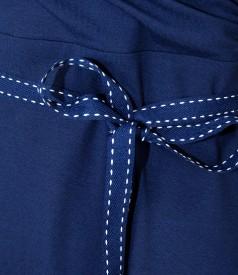 Rochie din jerse elastic cu decolteu in V