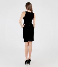 Rochie din catifea elastica