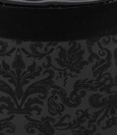 Fusta din stofa elastica brocata cu catifea