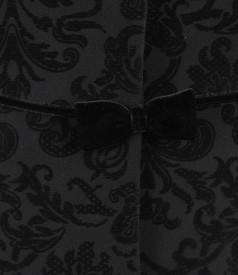 Sacou din stofa elastica brocata cu catifea