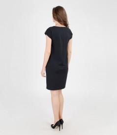 Rochie din jerse elastic gros cu buzunare