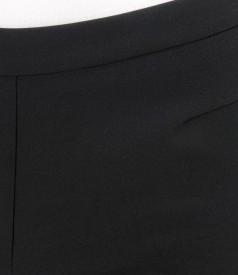 Pantaloni din stofa elastica cu fermoar metalic