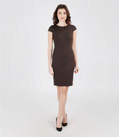 Rochie din jerse elastic gros cu aripioare