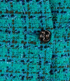 Sacou din bucle multicolor cu bumbac si lana virgina