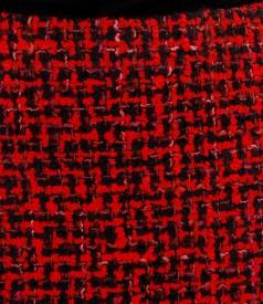 Fusta din bucle multicolor cu lana si bumbac