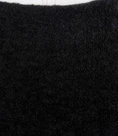 Fusta din bucle negru cu lana si alpaca cu garnitura