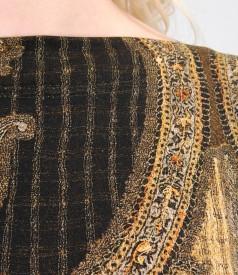 Rochie captusita din jerse elastic imprimat