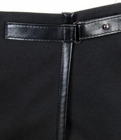 Fusta din jerse elastic gros cu catarama