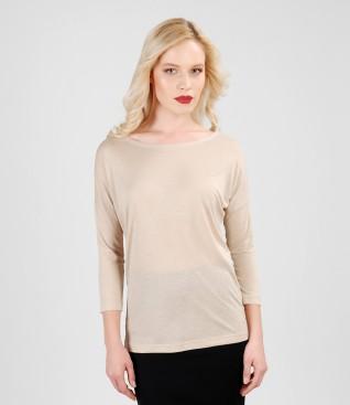 Bluza din jerse elastic cu lana