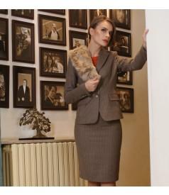 Fusta office cu lana ecologica si bumbac