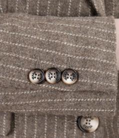 Sacou office cu lana ecologica si bumbac