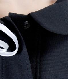 Sacou din jerse elastic gros cu floare