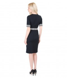Rochie din jerse elastic gros cu garnitura elastica
