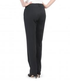 Pantaloni office din stofa elastica cu buzunare