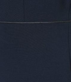 Rochie eleganta din stofa elastica cu tinte metalice