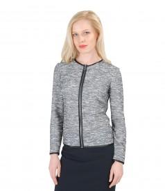Jacheta din bucle elastic cu bumbac